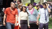 Glee Central Park - Mark Salling - Diana Agron - Lea Michele - Ashley Fink - Harry Shum Jr. 