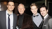 Broadway hunks Cheyenne Jackson, Richard Chamberlain, Christopher J. Hanke and Max Von Essen sure do look dapper on this opening night. 