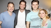 A parting shot of Norbert Leo Butz, Matthew Morrison, Aaron Tveit and Kerry Butler. Thanks for Catch-ing up with them, Matthew!