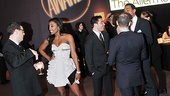 Who's that glamour-puss chit-chatting before the big show? Sister Act star Patina Miller, that's who!