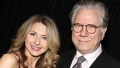 Born Yesterday's Nina Arianda hops in for a picture next to How to Succeed's John Larroquette.