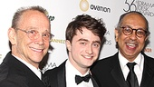 Outstanding Director Drama Desk Awards in hand, The Normal Heart co-directors Joel Grey and George C. Wolfe happily flank How to Succeed star Daniel Radcliffe.