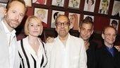 The Tony nominees of The Normal Heart get together for a group shot: Hickey, Barkin, co-director George C. Wolfe, Mantello and co-director Joel Grey. Congratulations!