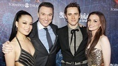 Congratulations Team Spider-Man! T.V. Carpio, Patrick Page, Reeve Carney and Jennifer Damiano are beyond excited to have reached opening night.