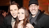 Show stars Reeve Carney and Jennifer Damiano and their director, creative consultant Philip William McKinley, are all smiles.
