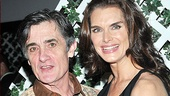 Kooky onstage couple Roger Rees and Brooke Shields are all smiles at Shields' opening night party.