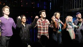 Opening night of &lt;i&gt;Rent&lt;/i&gt; - Matt Shingledecker  Arianda Fernandez  Adam Chanler-Berat  Corbin Reid  Annaleigh Ashford  Nicholas Collins