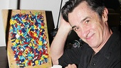 "Roger Rees poses with ""Grandma's Secret Stash."" That's a lot of pills, Grandma!"