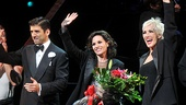 Tony Yazbeck, Kara DioGuardi and Amra-Faye Wright greet the adoring crowd at the curtain call.