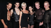 Amra-Faye Wright and Kara DioGuardi cozy up with the hunky men of Chicago: Adam Zotovich, Peter Nelson, Brian OBrien and Ryan Worsing. 