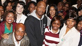 Just an average school day… taking photos with movie stars! Katori Hall, Kenny Leon, Samuel L. Jackson and Angela Basset join the students for some pictures.
