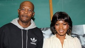 After an in-depth conversation with the thoroughly impressed students, Samuel L. Jackson and Angela Bassett are ready to greet our photographer.
