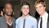K. Todd Freeman and Jay Armstrong Johnson join Spring Awakening vet Gideon Glick for a post-show photo.