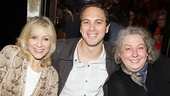 Thomas Sadoski is flanked by his upcoming Other Desert Cities co-star Judith Light and Follies scene-stealer Jayne Houdyshell.