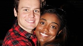 The Submission&#39;s Jonathan Groff pulls his bestie, Patina Miller of Sister Act, in for a hug.
