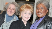 Broadway babies Jayne Houdyshell and Terri White happily flank this perennial fan favorite.