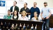 As the show's courtroom scene begins, everyone is anxiously awaiting verdicts.