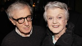 Woody Allen gets a welcome back to Broadway from five-time Tony winner Angela Lansbury.
