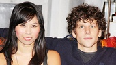 Jesse Eisenberg throws his arm around his onstage sister-in-law Camille Mana.