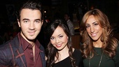 Kevin Jonas and wife Danielle Deleasa are here to cheer on Jonas' Camp Rock co-star Anna Maria Perez de Tagle as she makes her Broadway debut in Godspell.