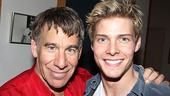 Stephen Schwartz throws an arm around his newest Broadway Jesus, Hunter Parrish.