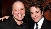 Jim Borstelmann enjoys the party with his former Producers castmate Matthew Broderick.