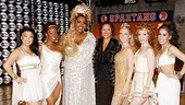 Former Miss America Vanessa Williams fits right in with the lovely ladies of Lysistrata Jones (Katie Boren, LaQuet Sharnell, Liz Mikel, Patti Murin, Lindsay Nicole Chambers and Kat Nejat) and their sparkling outfits. 