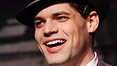 Jeremy Jordan as Clyde Barrow and Laura Osnes as Bonnie Parker in Bonnie & Clyde.