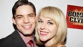 There's no one Jeremy Jordan would rather spend opening night with that his beautiful fiancée, fellow Broadway vet Ashley Spencer.