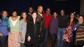 Porgy and Bess principal cast shares in the excitement with creative team Diane Paulus, Suzan-Lori Parks and Diedre L. Murray. 