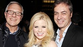 Star Megan Hilty is flanked by Broadway director Walter Bobbie and Broadway Across America CEO John Gore.