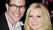 Director Michael Mayer enjoys the premiere with his leading lady, Megan Hilty.
