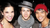 Nick Jonas Backstage at Godspell – Lindsay Mendez – Nick Jonas - Telly Leung