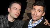 Justin Kirk celebrates his first night in Other Desert Cities with Desperate Housewives' Jonathan Cake.