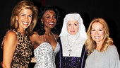 Kathie Lee and Hoda at Sister Act  Hoba Kotb  Patina Miller  Carolee Carmello  Kathie Lee Gifford 