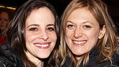Broadway belles Maria Dizzia and Marin Ireland get close at the party.