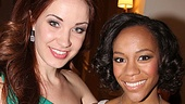 Star students! Master Class's Sierra Boggess and Book of Mormon Tony Award winner Nikki M. James squeeze in some girl talk on the way to the big show.