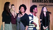 Ladies Night! Godspell gals Lindsay Mendez, Morgan James, Celisse Henderson, Uzo  Aduba and Anna Maria Perez de Tagle spread the gospel to the crowd.