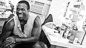 "Tony nominee Joshua Henry eagerly awaits the call of ""places"" before another performance of the hit revival of Porgy and Bess. Break a leg, Josh!"