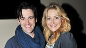 It's a Shepard family photo with Colin Donnell, Betsy Wolfe and Zachary Unger who play Franklin, Beth and Franklin Shepard Jr. in Encores! Merrily.