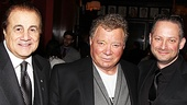 Producer Larry Thompson, star William Shatner and producer Adam Epstein chat about their next voyage together at the after-party.