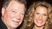 William Shatner gets cozy at Sardi's with his real-life leading lady, wife Elizabeth Shatner.