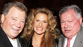 Elizabeth Shatner and Shubert Organization President Robert Wankel congratulates William Shatner at the opening night party.