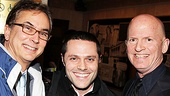 Talented musical director Rob Fisher, Broadway vet Joshua Bergasse (currently choreographing TV's Smash) and director Scott Faris are a dapper threesome on the opening night of Shatner's World: We Just Live in It.