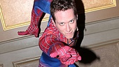 Matt Caplan shows off his web-slinging motion. Enjoy the thrills of Spider-Man, Turn Off the Dark at the Foxwoods Theatre.