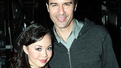 Eric McCormack gets close to Godspell leading lady Anna Maria Perez de Tagle.