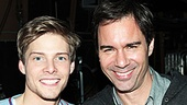 Two of Broadway's most dashing leading men, Hunter Parrish and Eric McCormack, get close for a post-show snapshot.