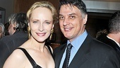 Happy couple Laila Robins and Tony nominee Robert Cuccioli (Jekyll &amp; Hyde) celebrate after her latest star turnsee Robins and company in The Lady From Dubuque at the End Stage!