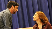 Sparks fly between Raúl Esparza and Jessica Phillips in Leap of Faith.