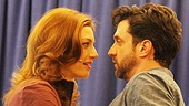 Raúl Esparza and Jessica Phillips can't deny their feelings for each other as Jonas Nightingale and Marla Humes in Leap of Faith.